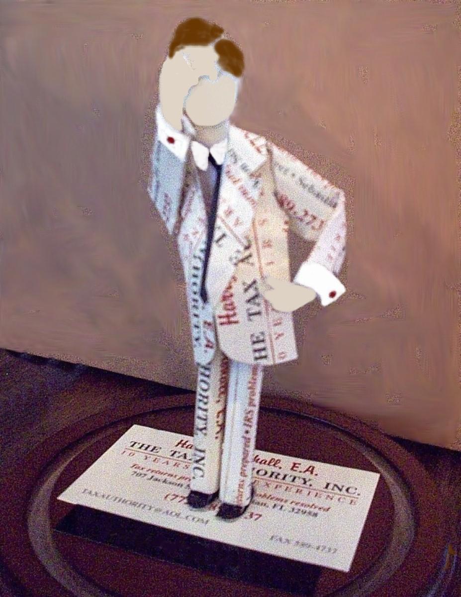 Business Card Sculpture – Oh No Man   Paperpopups\'s Blog