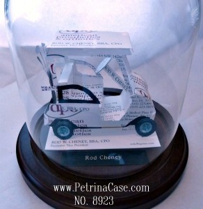 Golf Cart Business Card Sculpture 8923