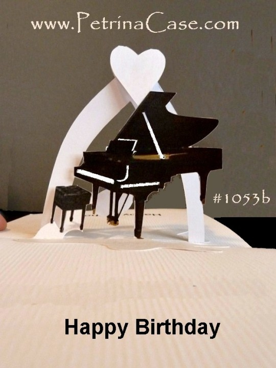 Baby Grand Piano Pop-Up Cards