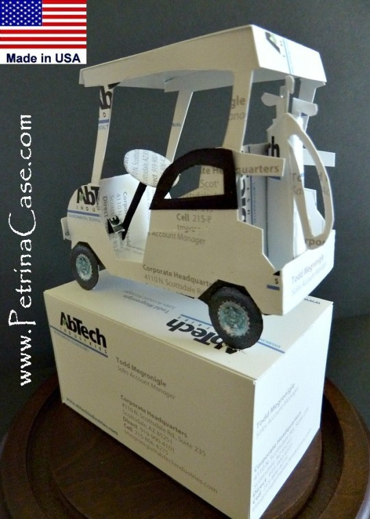 Golf Cart Business Card Sculpture