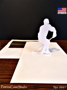 Hockkey Player Business Card Sculpture and Pop-Up Card