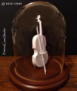 8928 violin paper sculpture 8928