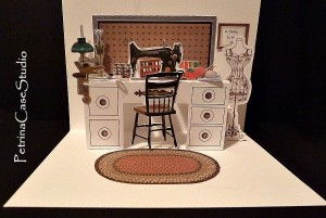 sewing room pop-Up card 1351