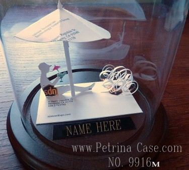 Vacation Business card sculpture